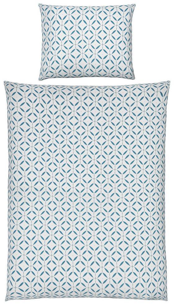Povlečení Dotty - bílá/modrá, Moderní, textil (140/200cm) - Mömax modern living