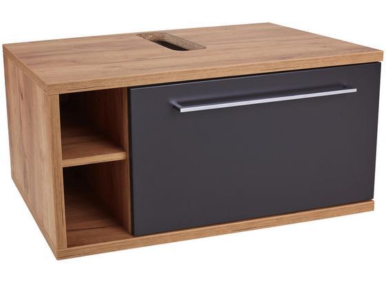 Waschtischunterschrank Hängend Opus, B: 90cm - Eichefarben/Anthrazit, MODERN, Holzwerkstoff (90/40/53cm)