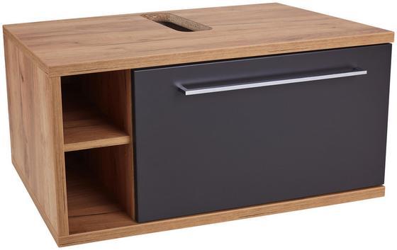 Waschtischunterschrank Opus Wtu - Eichefarben/Anthrazit, MODERN, Holzwerkstoff (90/40/53cm)