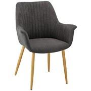 Židle S Podroučkami Samantha - tmavě šedá/barvy buku, Moderní, kov/dřevo (59/82/65cm) - Mömax modern living