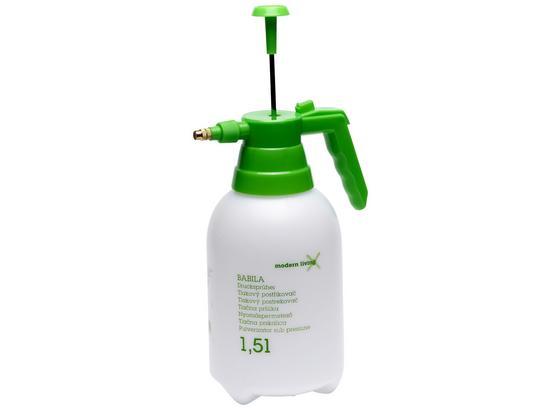 Fľaša S Rozprašovačom Drucksprüher - biela/zelená, kov/plast (1,5cm)