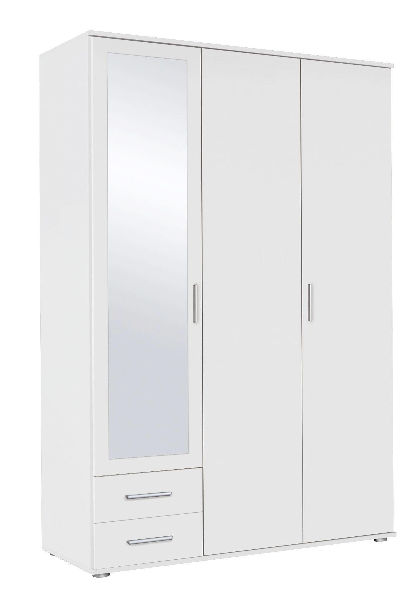 Skříň Rasant - bílá, dřevěný materiál (127/188/52cm)