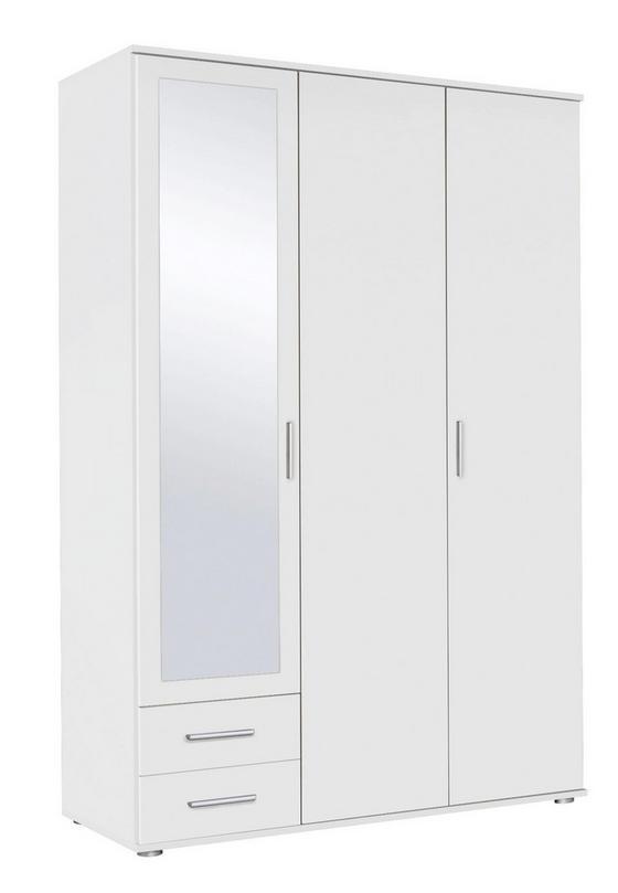 Skriňa S Dvermi Rasant - biela, drevený materiál (127/188/52cm)