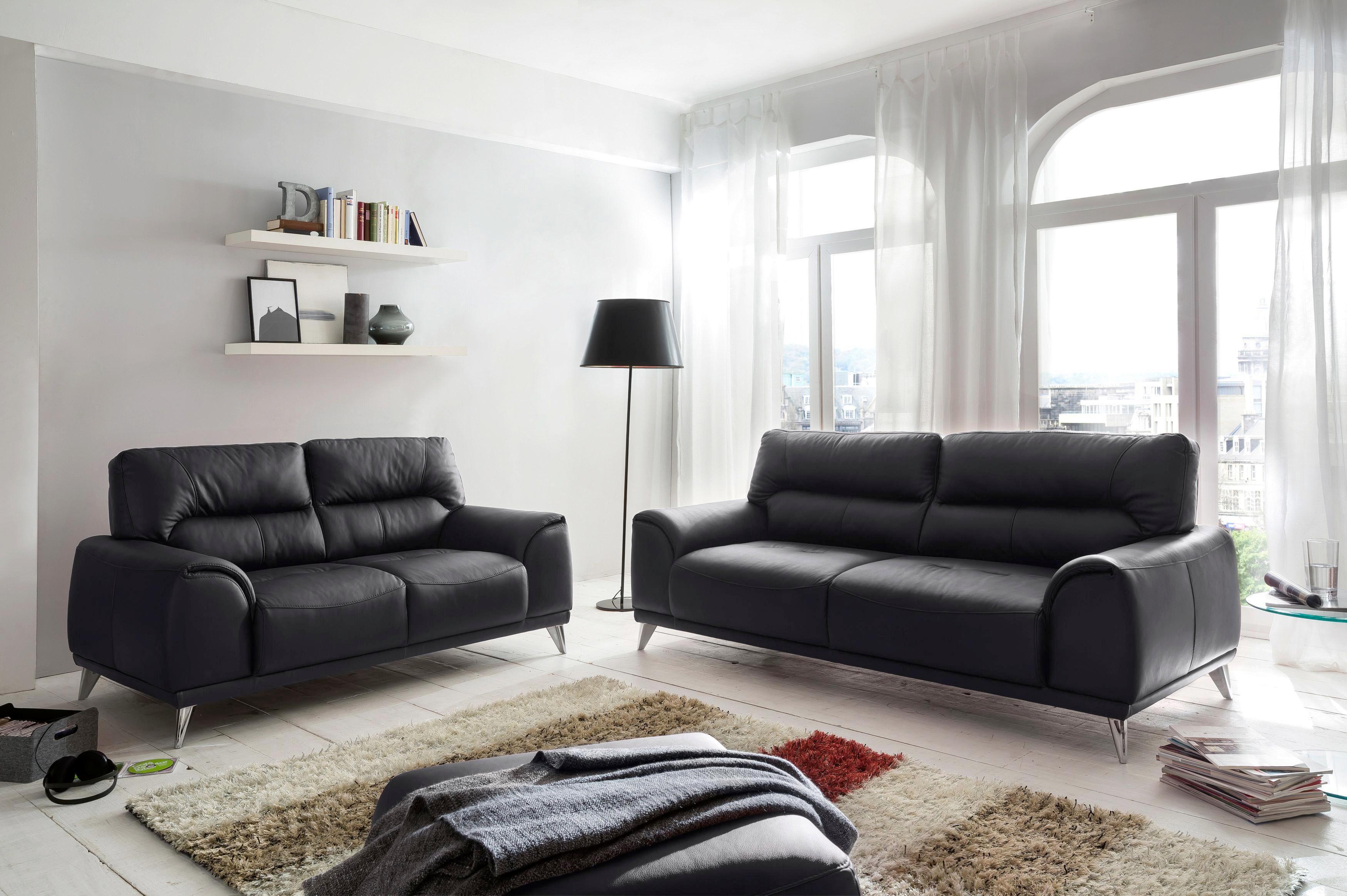 Hocker Frisco - Chromfarben/Schwarz, MODERN, Textil (65/46/65cm)