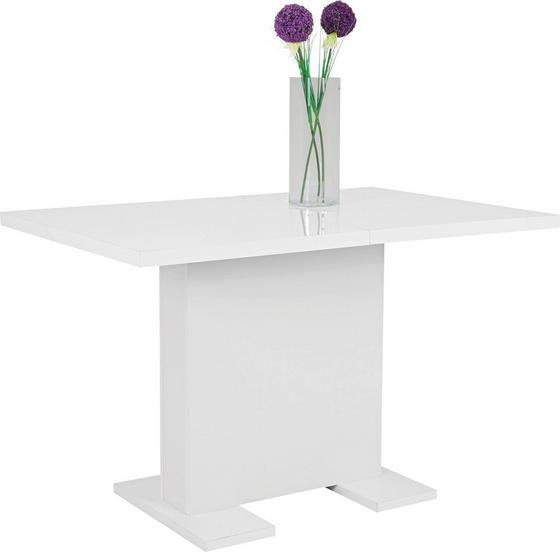 Jedálenský Stôl Julia Ii - biela, Moderný, drevený materiál (120/75/80cm)