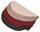 Stufenmatte Birmingham -  Rot/beige - Beige/Rot, KONVENTIONELL, Textil (25/65cm)