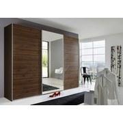 Skříň Ernie Dekor Ořech - barvy ořechu, Moderní, dřevěný materiál/sklo (270/210/65cm)