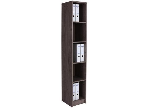 Regál 4-you Yur06 - tmavohnedá, Moderný, kompozitné drevo (30/189,5/34,6cm)