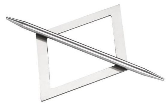 Raffhalter Raphael - Schwarz/Nickelfarben, KONVENTIONELL, Metall (20/13cm) - Ombra