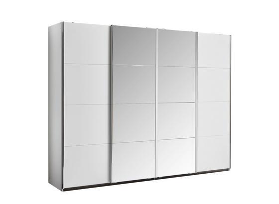 Skříň S Posuvnými Dveřmi Bensheim 316x211cm - bílá, Moderní, kompozitní dřevo (316/211/62cm) - James Wood