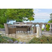 Gartengarnitur Nizza - Beige/Braun, MODERN, Kunststoff/Textil - LUCA BESSONI