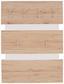 Garderobenpaneel Moya - Eichefarben/Weiß, MODERN, Holzwerkstoff/Kunststoff (70/99/2cm)