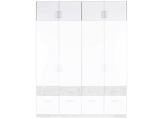 Nástavec Na Skříň Aalen-extra - bílá/šedá, Konvenční, kompozitní dřevo (181/39/54cm)