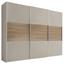 Schwebetürenschrank 298 cm Includo - Sandfarben/Eichefarben, MODERN, Holzwerkstoff (298/222/68cm) - Bessagi Home