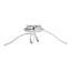 Led Stropní Svítidlo Fran - barvy niklu, Romantický / Rustikální, kov/umělá hmota (70/23cm) - Premium Living