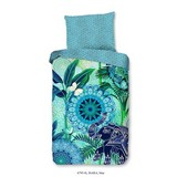 Bettwäsche Isara - Blau/Grün, Basics, Textil
