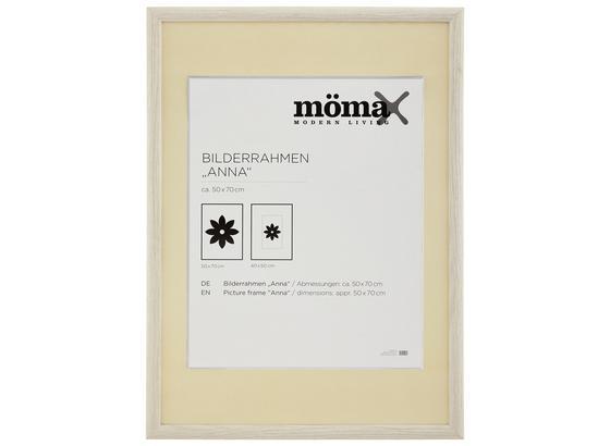 Rám Na Obrazy Anna - bílá, dřevo/sklo (70/50/1,6cm) - Modern Living
