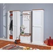 Garderobenpaneel Westerland B: 64cm Weiß Kiefer - Braun/Weiß, LIFESTYLE, Holz (64/145/22cm) - Carryhome