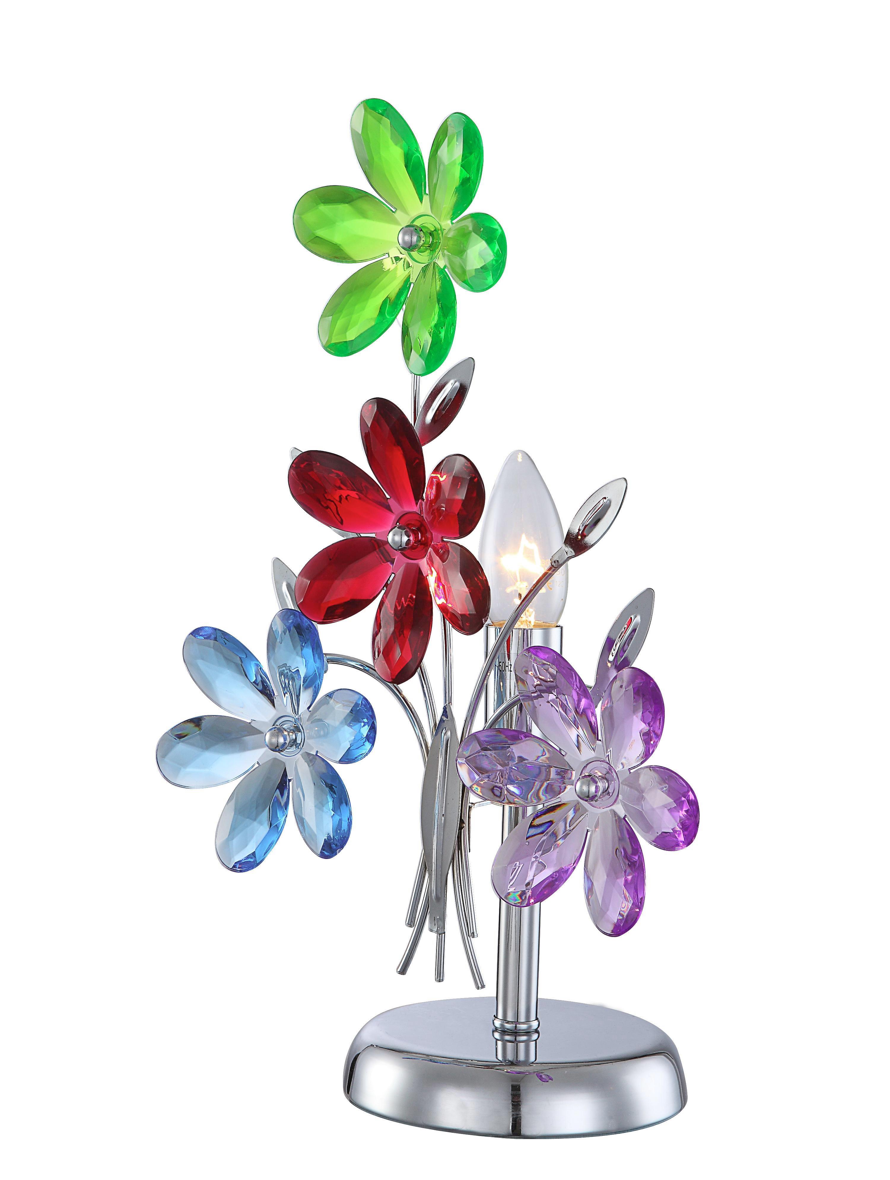 Tischleuchte Rainbow - Multicolor, KONVENTIONELL, Kunststoff/Metall (23,5/37cm)