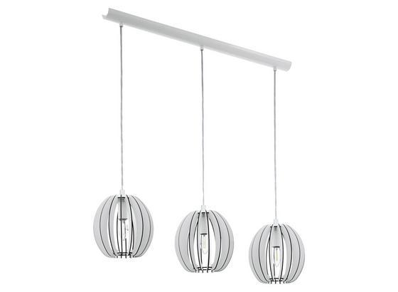Hängeleuchte Cossano - Weiß, MODERN, Holz/Metall (79/19/130cm)