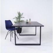 Stuhl Malmö 55cm Blau - Blau/Schwarz, MODERN, Kunststoff/Textil (55,5/86/48cm)