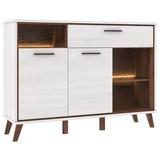 Komoda Sideboard Malvin - barvy dubu, Moderní, kov/dřevěný materiál (139,2/102,1/41,5cm)