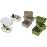 Regalkorbset Gesa, Weiß - Weiß, KONVENTIONELL, Kunststoff/Metall - OMBRA