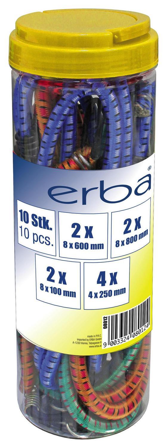 Gepäckspannerset 10-teilig, Verschiedene Größen - Multicolor, Kunststoff - Erba