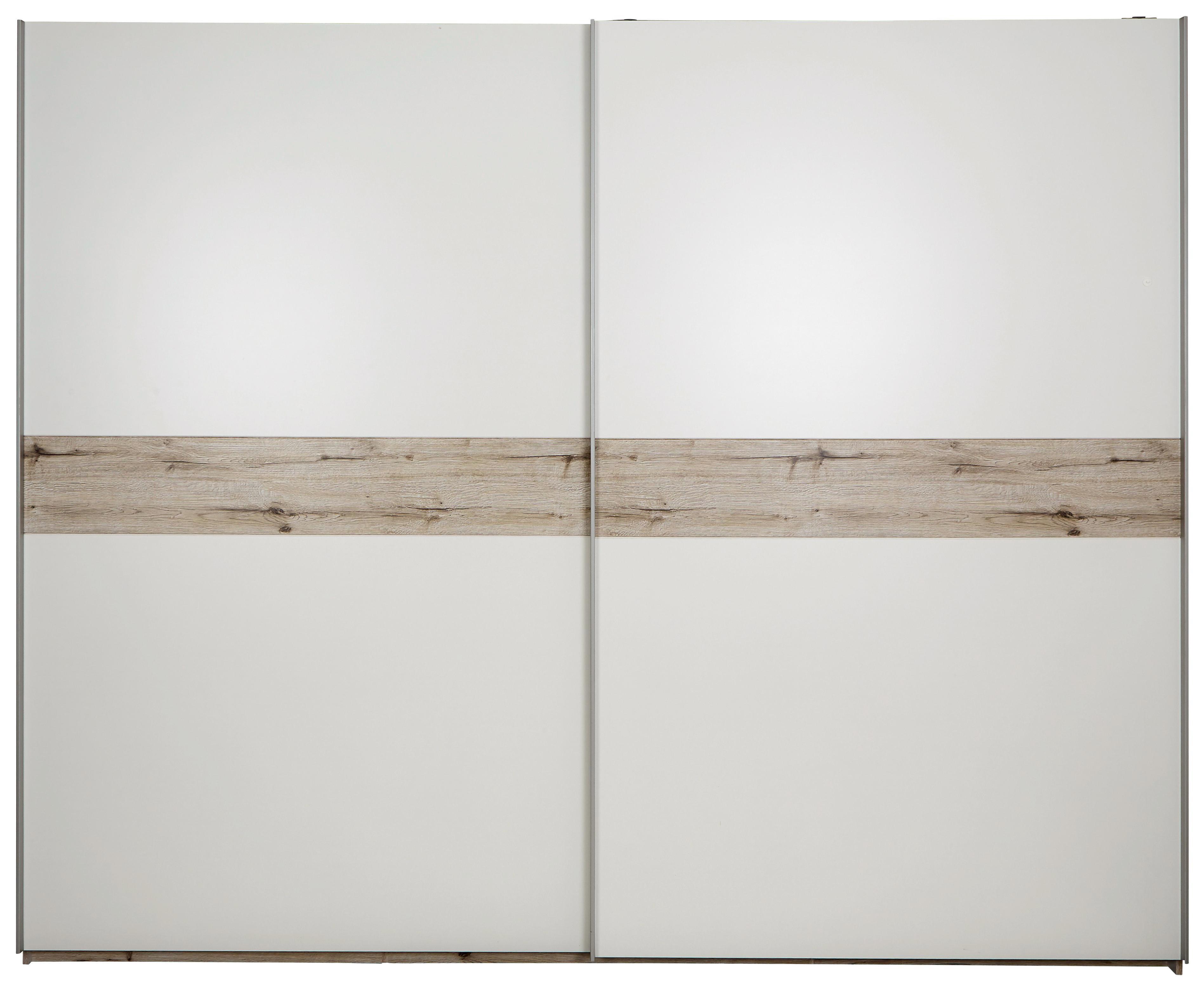 Skříň S Posuvnými Dveřmi Julia - bílá/barvy dubu, Konvenční, dřevěný materiál (270/225/62cm)