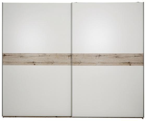 Szekrény Julia - tölgy színű/fehér, konvencionális, faanyagok (270/225/62cm)
