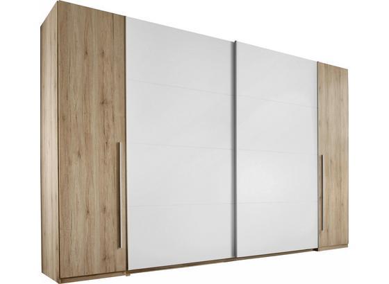 Skříň S Posuvnými Dveřmi Joker - bílá/barvy dubu, Konvenční, dřevo (315/225/61cm)