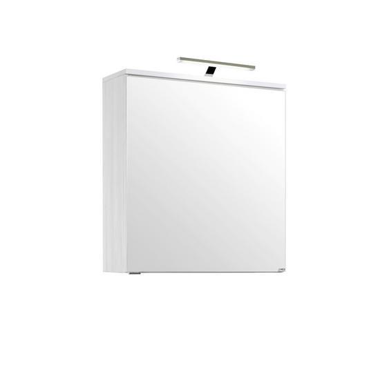 Spiegelschrank Mailand 60 cm Weiß - Weiß, MODERN, Holzwerkstoff (60/66/20cm)