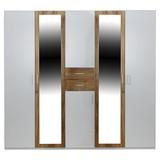 Kleiderschrank Diver B:225cm Weiß/Eiche Dekor - Eichefarben/Weiß, KONVENTIONELL, Holz/Holzwerkstoff (225/210/58cm)