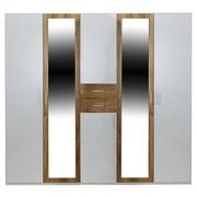 Kleiderschrank Diver - Eichefarben/Weiß, KONVENTIONELL, Holz/Holzwerkstoff (225/210/58cm)
