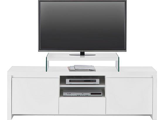 Komoda Lowboard Lario - bílá, Moderní, kompozitní dřevo (164/53,4/40cm)