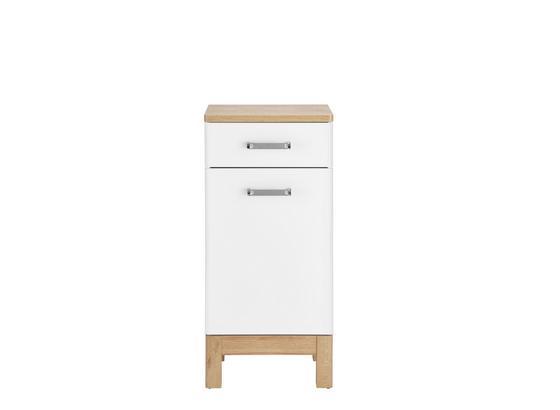 Spodná Skrinka Malibu - farby dubu/biela, Moderný, kompozitné drevo (40/86/32cm)