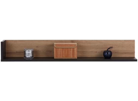 Winkelboard Salerno - Eichefarben/Grau, MODERN, Holzwerkstoff (145,6/21,5/20cm)