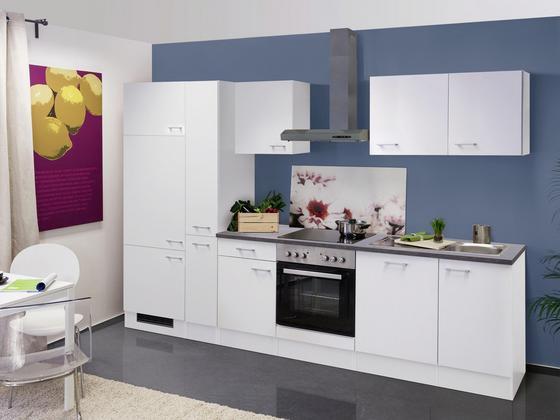 Küchenblock lucca 310cm weiß weiß konventionell holzwerkstoff 310 60cm