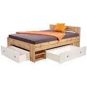 Bett Azurro 140x200 Eiche Wotan - Weiß/Sonoma Eiche, MODERN, Holzwerkstoff (204/75/145cm)