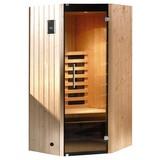 Infrarotkabine 1 Person 137x190x99cm Tanilla Eck - Fichtefarben, MODERN, Glas/Holz (137/190/99cm)