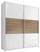 Schwebetürenschrank Includo 167cm Weiß/eiche Dekor - Eichefarben/Weiß, MODERN, Holzwerkstoff (167/222/68cm)