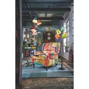 Armlehnstuhl Patchwork 77 cm - Multicolor/Schwarz, KONVENTIONELL, Holz/Textil (77/96/93cm)