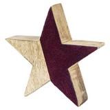 Dekostern ca. 15/4cm - Bordeaux, Basics, Holz (15/4cm)