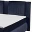 Boxspringbett mit Bettkasten 180x200cm Caims B3, Blau - Blau/Silberfarben, KONVENTIONELL, Holzwerkstoff/Textil (180/200cm) - Carryhome