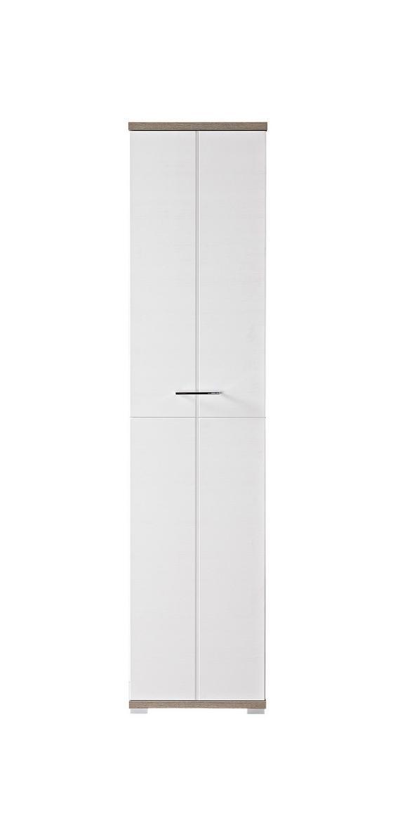 Šatní Skříň Plus - bílá/barva stříbrného dubu, Moderní, dřevo (47/199/39cm) - PREMIUM LIVING