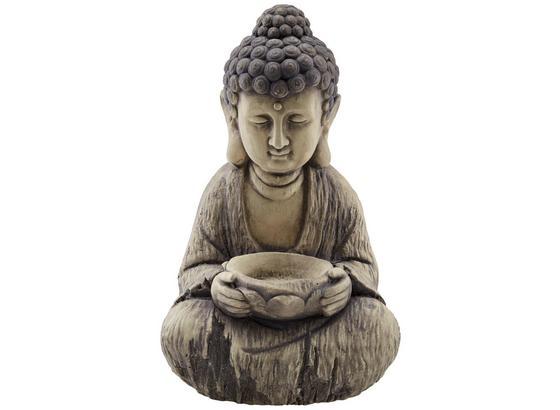 Buddha Akesha - Creme/Grau, KONVENTIONELL, Stein (24/21/42cm) - Ombra