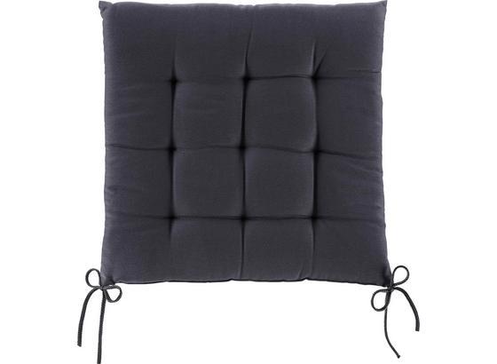Sedák Anita -ext- - tmavě šedá, textil (40/40/4cm) - Mömax modern living