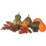 Deko-pflanzenset Herbst - Braun/Orange, KONVENTIONELL, Kunststoff (7,5/ca 12cm)