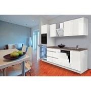 Küchenblock Premium B: 280 cm Weiß Matt - Hellgrau/Weiß, MODERN, Holzwerkstoff (280/220,5/60cm) - MID.YOU