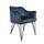 Armlehnstuhl Jayron B: 63 cm Blau - Blau/Schwarz, Basics, Textil/Metall (63/81/55cm) - Livetastic